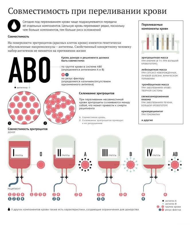 Почему нужно переливать одногруппную кровь