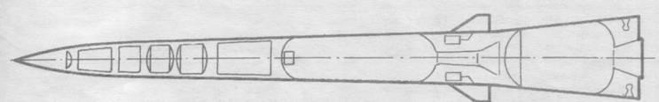 Компоновка ракеты 9М83 комплекса С-300В (по разрезному макету на
